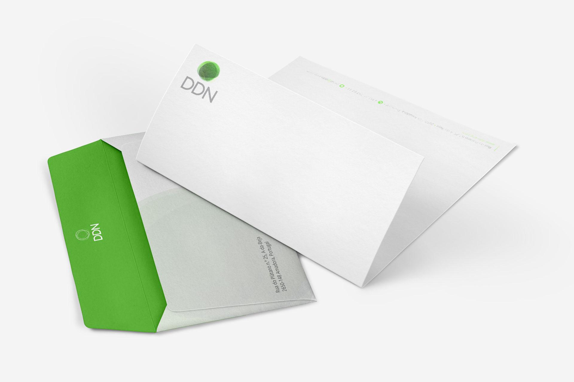DDN - Envelope e Papel de Carta